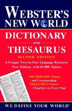 Webster's New World Dictionary and Thesaurus (Hardcover)