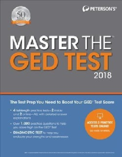 Peterson's Master the Ged Test 2018 (Paperback)