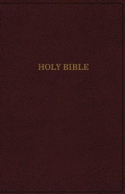 Holy Bible: King James Version, Reference, Super Giant Print, Imitation Leather, Burgundy, Red Letter Edition (Paperback)