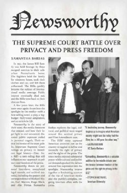 Newsworthy: The Supreme Court Battle over Privacy and Press Freedom (Hardcover)