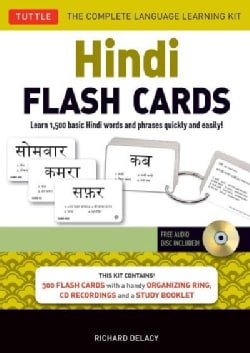 Hindi Flash Cards Kit: Learn 1,500 basic Hindi words and phrases quickly and easily!