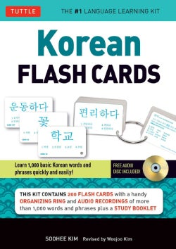 Korean Flash Cards Kit: Learn 1,000 basic Korean words and phrases quickly and easily!