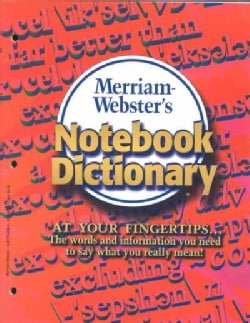 Merriam-Webster's Notebook Dictionary (Paperback)