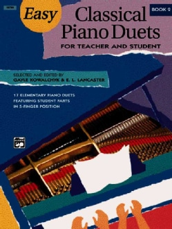 Easy Classical Piano Duets for Teacher and Student, Book 2 (Paperback)