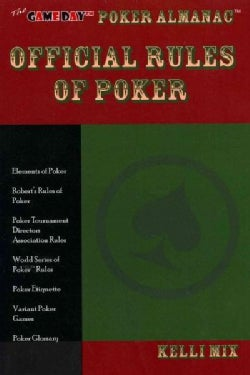The Game Day Poker Almanac Official Rules of Poker (Paperback)