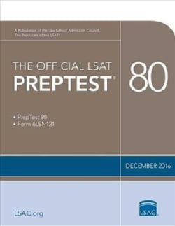 The Official LSAT Preptest 80: December 2016  (Paperback)