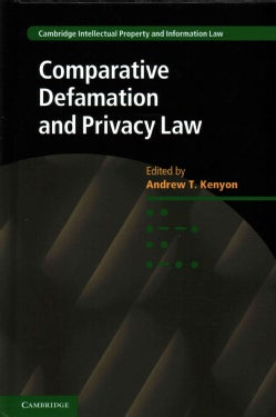 Comparative Defamation and Privacy Law (Hardcover)