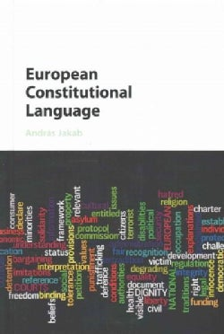 European Constitutional Language (Hardcover)