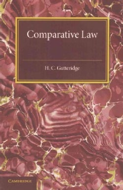 Comparative Law: An Introduction to the Comparative Method of Legal Study and Research (Paperback)