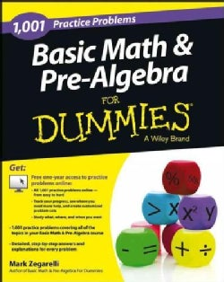 1,001 Basic Math & Pre-Algebra Practice Problems for Dummies (Paperback)