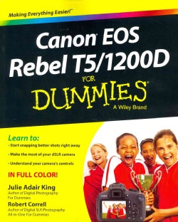 Canon EOS Rebel T5/1200D for Dummies (Paperback)