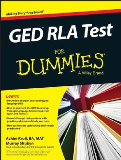 GED RLA Test for Dummies (Paperback)