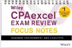 Wiley CPAexcel Exam Review January 2017 Focus Notes: Business Environment and Concepts (Paperback)