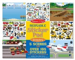 Reusable Sticker Pad Vehicles (Paperback)