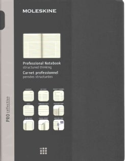 Moleskine Pro Collection Notebook: Extra Large, Black (Notebook / blank book)