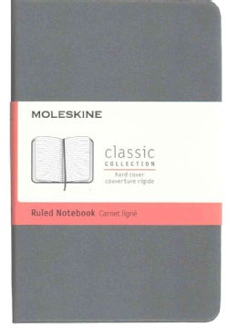 Moleskine Classic Ruled Notebook Pocket Hard Cover Slate Grey (Notebook / blank book)