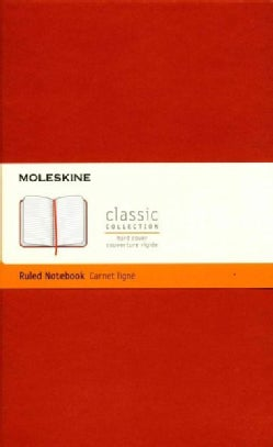 Moleskine Classic Notebook, Large, Ruled, Coral Orange (Notebook / blank book)
