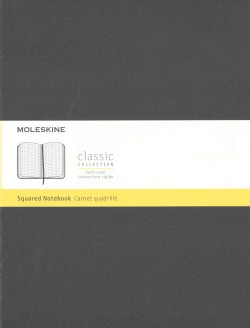 Moleskine Classic Notebook, Extra Large, Squared, Black (Notebook / blank book)