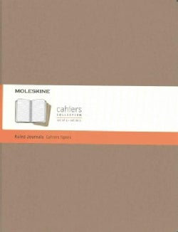 Moleskine Cahier Journal Extra Extra Large Ruled Kraft Brown (Notebook / blank book)