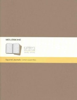 Moleskine Cahier Journal Extra Extra Large Squared Kraft Brown (Notebook / blank book)