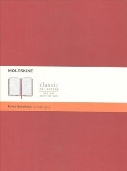 Moleskine Classic Notebook, Extra Large, Ruled, Scarlet Red (Notebook / blank book)