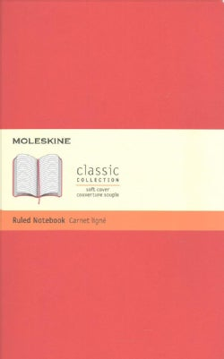 Moleskine Classic Notebook, Large, Ruled, Scarlet Red (Notebook / blank book)
