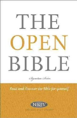 The Open Bible: New King James Version, Red Letter Edition (Hardcover)