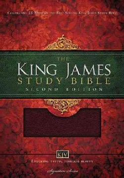 The King James Study Bible: Burgundy Bonded Leather (Paperback)