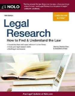 Legal Research: How to Find & Understand the Law (Paperback)