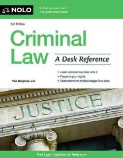 Criminal Law: A Desk Reference (Paperback)
