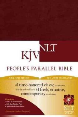 People's Parallel Bible: King James Version, New Living Translation, Burgundy Imitation Leather (Paperback)