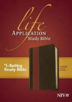 Life Application Study Bible: New International Version, Brown/Tan, Tutone Leatherlike (Paperback)