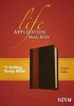 Life Application Study Bible: New International Version, Brown / Tan TuTone, Leatherlike, Personal Size (Paperback)