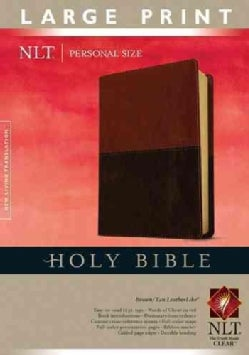 Holy Bible: New Living Translation, Brown / Tan, LeatherLike, Personal Size (Paperback)