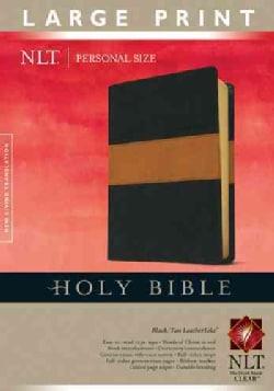 Holy Bible: New Living Translation, Black / Tan LeatherLike, Personal Size (Paperback)