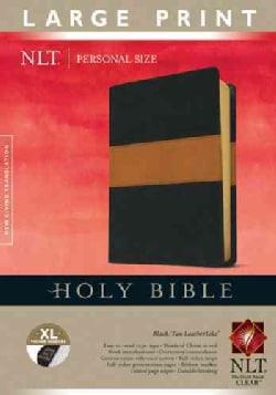 Holy Bible: New Living Translation, Black & Tan LeatherLike, Personal Size (Paperback)
