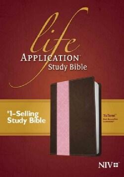 Life Application Study Bible: New International Version, Dark Brown Pink, Tutone Leatherlike (Paperback)