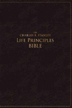The Charles F. Stanley Life Principles Bible: New American Standard Bible Burgundy Leathersoft (Paperback)
