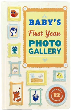 Baby's First Year Photo Gallery: Album With 12 Monthly Photo Cards (Board book)