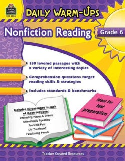 Daily Warm-Ups Nonfiction Reading, Grade 6 (Paperback)