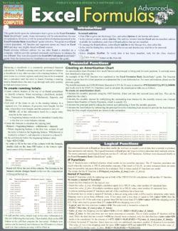 Excel Formulas Advanced (Cards)