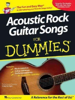Acoustic Rock Guitar Songs for Dummies (Paperback)