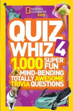 Quiz Whiz 4: 1,000 Super Fun Mind-bending Totally Awesome Trivia Questions (Paperback)