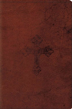 The Holy Bible: English Standard Version, Walnut, Trutone, Weathered Cross Design, Compact Bible (Paperback)