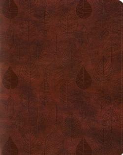 The Holy Bible: English Standard Version Chestnut Trutone Leaves Design Single Column Journaling Bible (Paperback)