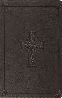 The Holy Bible: English Standard Version Charcoal, Trutone, Celtic Cross Design, Value Thinline (Paperback)