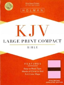 The Holy Bible: King James Version Pink/Brown Simulated Leather (Paperback)