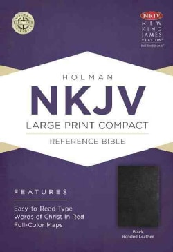 The Holy Bible: New King James Version Black Bonded Leather, Compact Reference Bible (Hardcover)