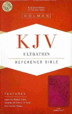 Holy Bible: King James Version, Pink, LeatherTouch Ultrathin Reference Bible (Hardcover)