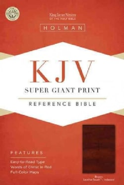 Holy Bible: King James Version, Super Giant Print Reference, Brown, LeatherTouch (Paperback)